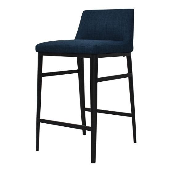 Contemporary counter stool blue