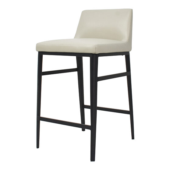 Contemporary counter stool beige