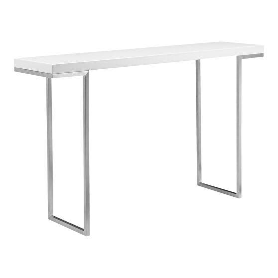 Contemporary console table white lacquer