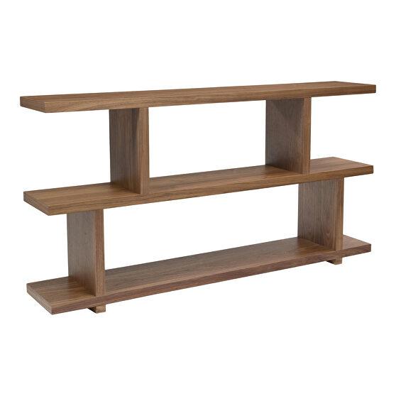 Contemporary shelf small walnut