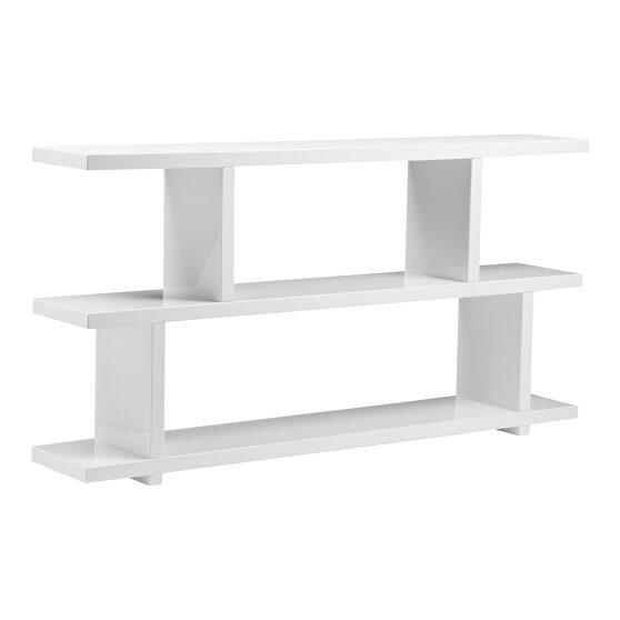 Contemporary shelf small white