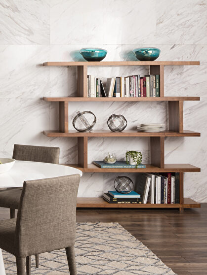 Contemporary shelf large walnut