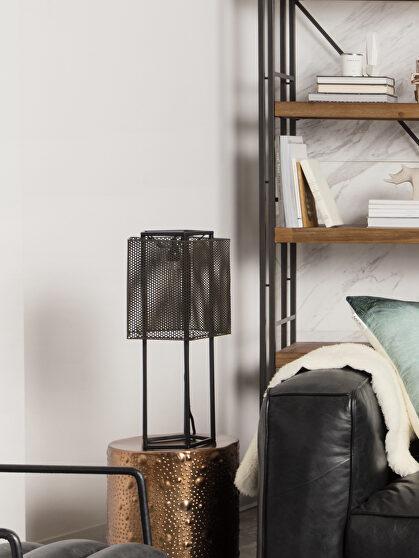 Industrial table lamp black