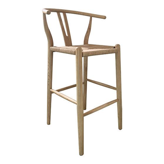 Scandinavian counter stool natural