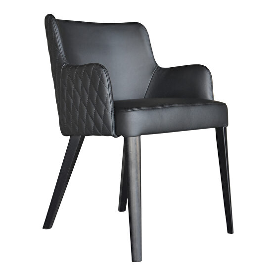 Contemporary dining chair black