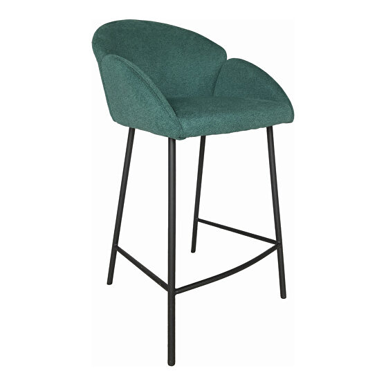 Retro counter stool green