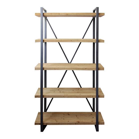 Rustic 5 level shelf natural
