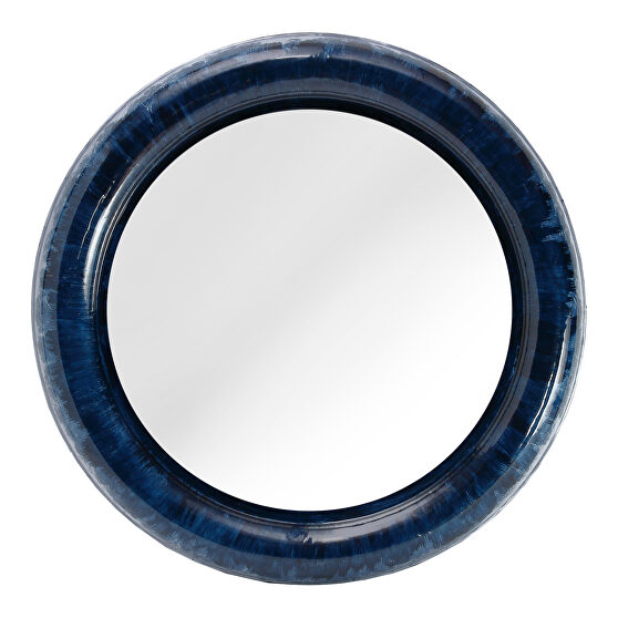 Contemporary mirror blue