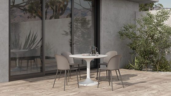 Contemporary outdoor cafe table
