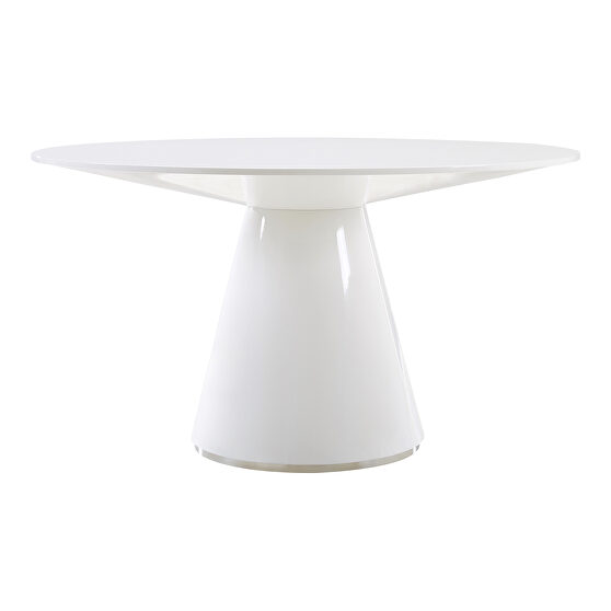 Contemporary dining table 54in round white