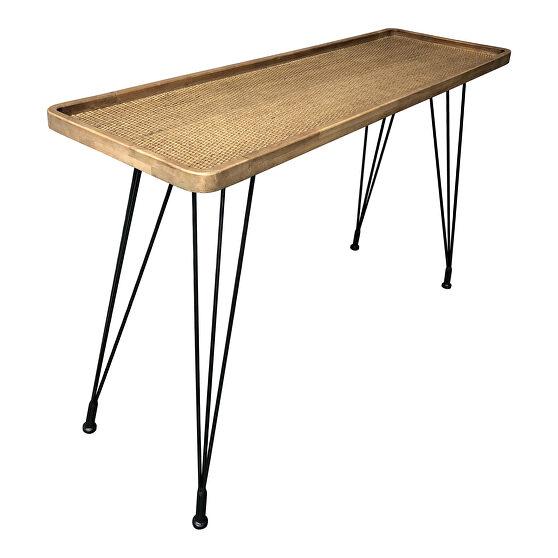 Scandinavian rattan console table