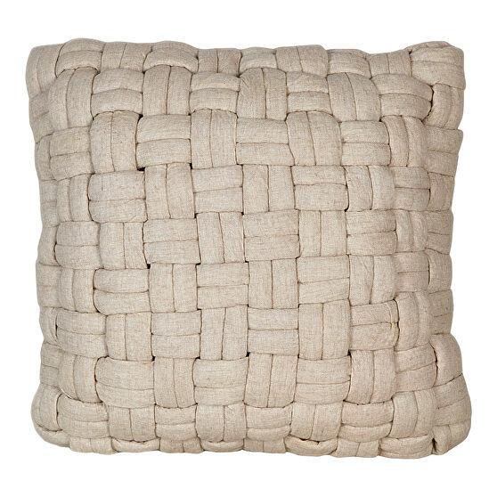 Scandinavian wool pillow vanilla