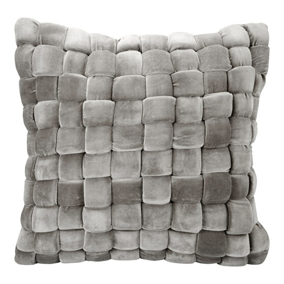 Contemporary pillow charcoal