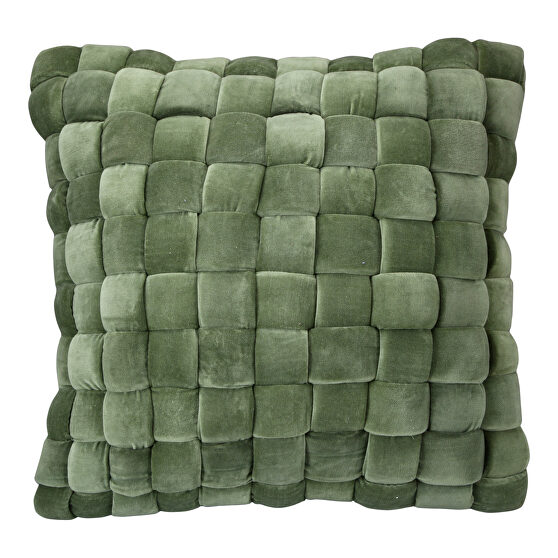 Contemporary pillow chartreuse