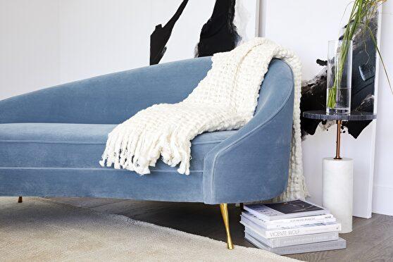 Retro chaise blue
