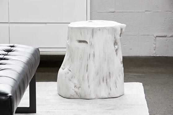 Rustic stool antique white