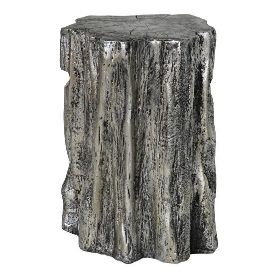Contemporary stool antique silver