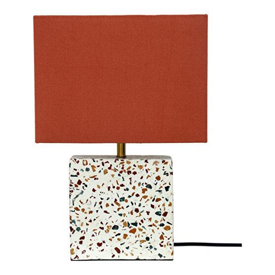 Retro square table lamp
