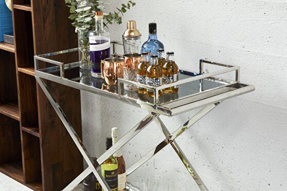 Contemporary bar cart