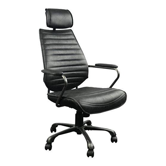 Industrial swivel office chair black
