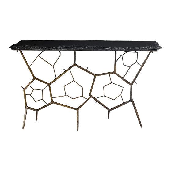 Contemporary slate console table