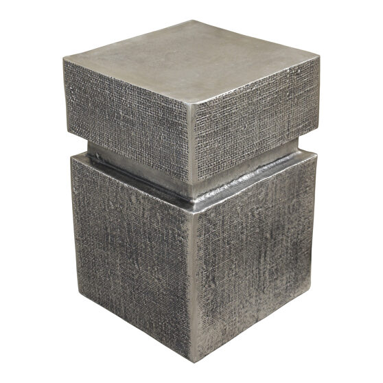 Industrial accent table antique nickel