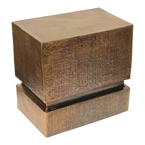 Industrial accent table brass