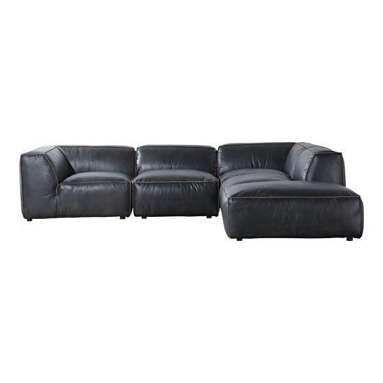 Scandinavian lounge modular sectional antique black