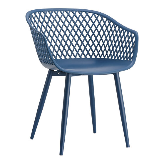 Contemporary outdoor chair blue-m2
