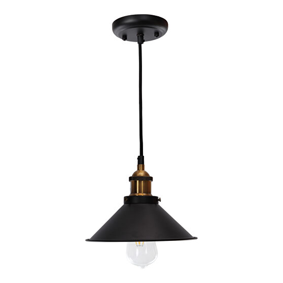 Industrial pendant lamp black