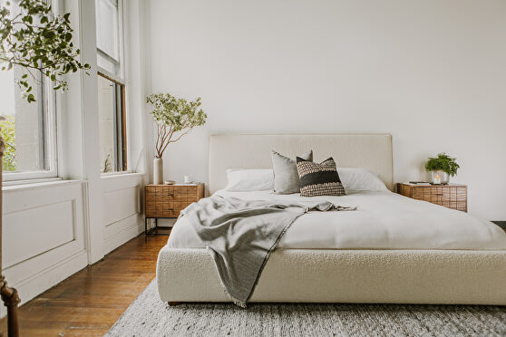 Contemporary king bed