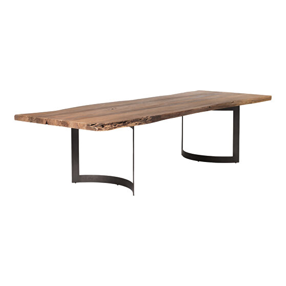 Industrial dining table large smoked