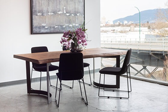 Industrial dining table extra small smoked