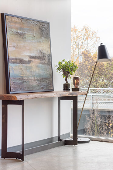 Industrial console table smoked