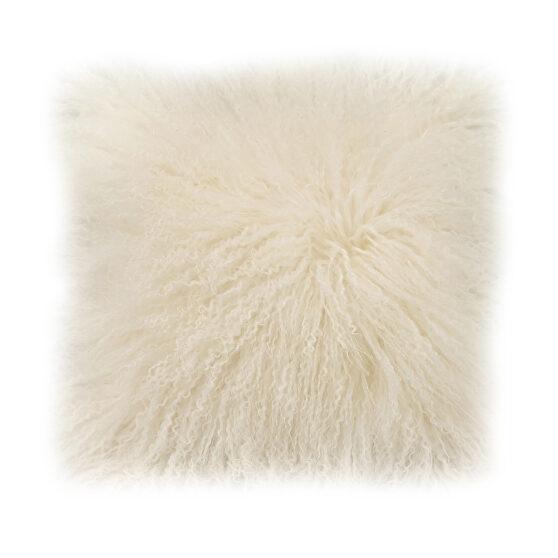 Contemporary fur pillow cream