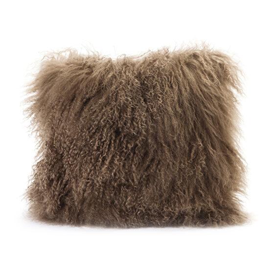 Contemporary fur pillow natural