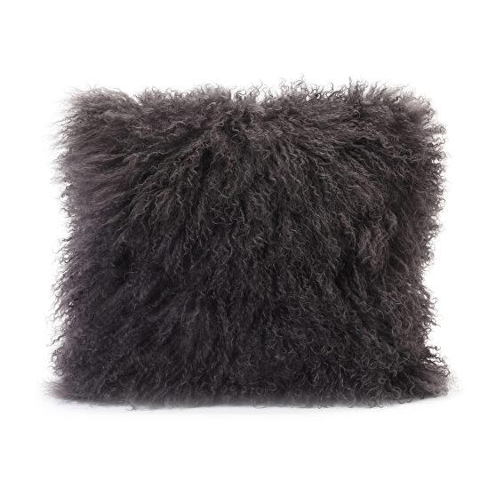 Contemporary fur pillow gray