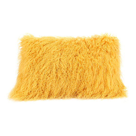 Contemporary fur pillow rect. gold