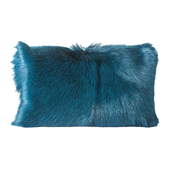 Contemporary fur bolster teal