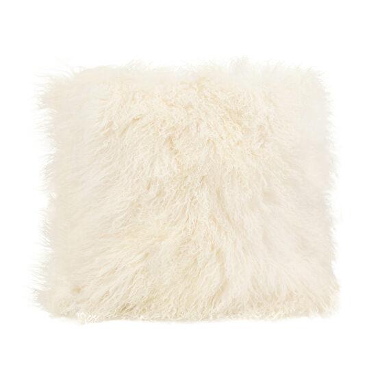 Contemporary fur pillow large  cream