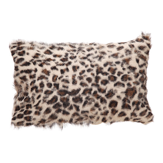 Contemporary fur bolster spotted brown leopard
