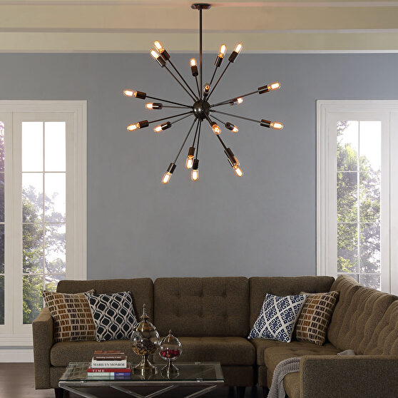 Black spiked style chandelier