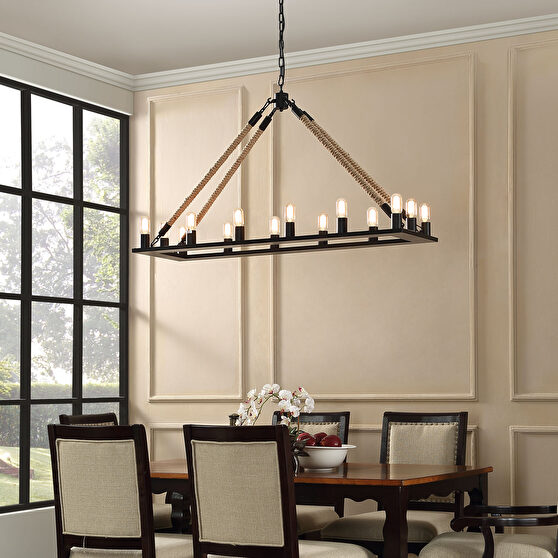 14 bulbs contemporary industrial style chandelier