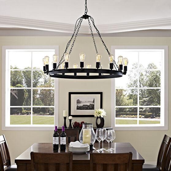 Round stylish chandelier w/ 18 bulbs