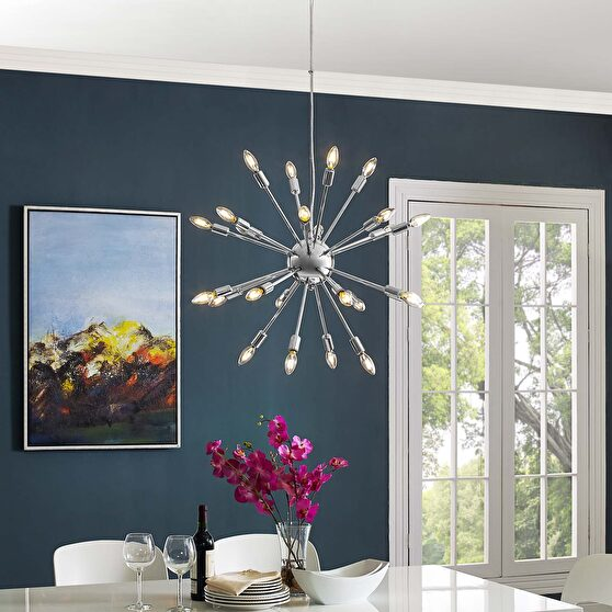 Spike style contemporary chandelier