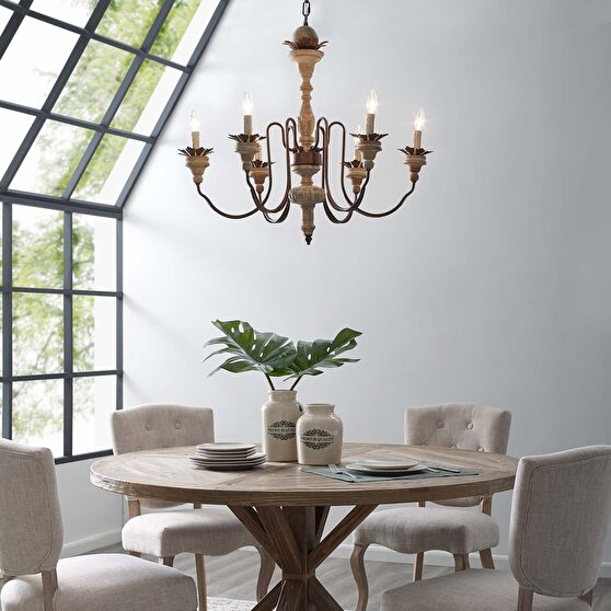 Vintage french pendant style chandelier