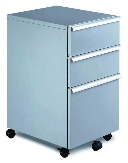 Modern file cabinet in silver