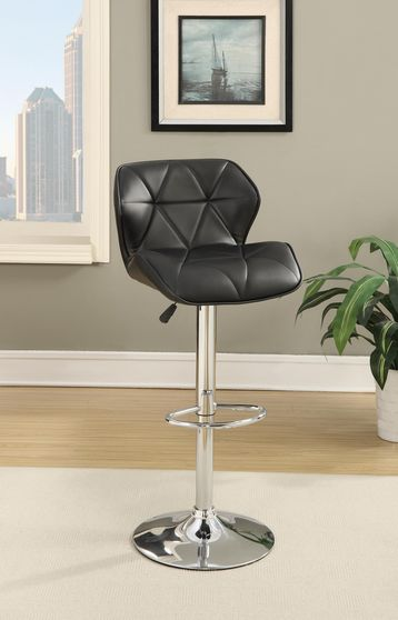 Modern bar stool in black leatherette