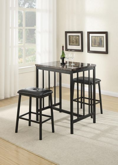 Table + 2 Stools counter height 3pcs set