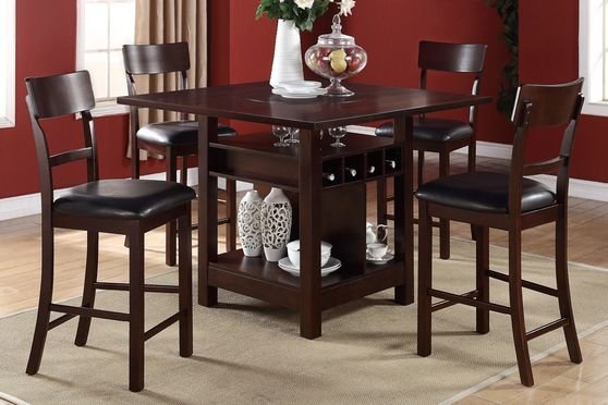 Lazy Susan counter height table w/ storage